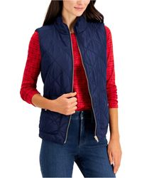 Charter Club Quilted Vest, In Regular & Petite, Created For Macy's - Blue
