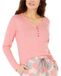 Charter Club Ribbed Pyjama Top, Created For Macy's - Pink