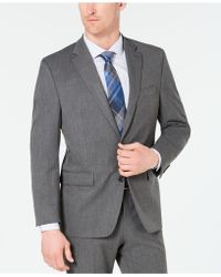 03786c22 Chaps - Classic-fit Stretch Wrinkle-resistant Gray Sharkskin Suit Jacket -  Lyst