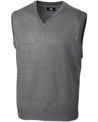 Cutter & Buck Douglas V-neck Sweater Vest - Grey