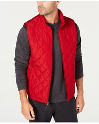 Hawke & Co. Quilted Vest, Created For Macy's - Red
