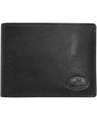 Mancini Rfid Secure Billfold With Removable Left Wing Passcase - Black