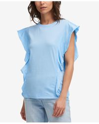 DKNY - Cotton Butterfly-sleeve Top, Created For Macy's - Lyst