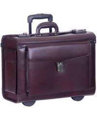 Mancini Business Collection Wheeled Laptop Catalog Case - Purple