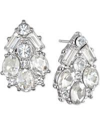 Badgley Mischka - Jewel Crystal Cluster Stud Earrings - Lyst