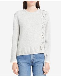 Calvin Klein Jeans | Lace-up Sweater | Lyst