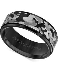 Triton Laser-engraved Camo Band In White Or Black Tungsten Carbide