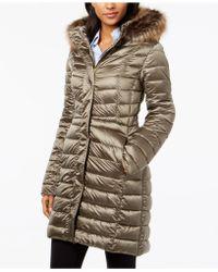 Barbour - Berneray Faux-fur-trim Quilted Coat - Lyst