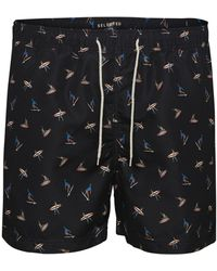 SELECTED Printed Swimshorts - Black
