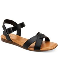 Style & Co. Antonia Flat Sandals, Created For Macy's - Black