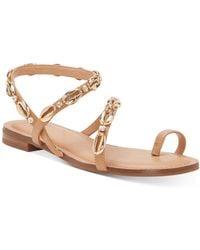 INC International Concepts Inc Jayden Embellished Toe-ring Flat Sandals, Created For Macy's - Metallic