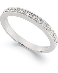 Macy's - Diamond Band Ring In Sterling Silver (1/10 Ct. T.w.) - Lyst