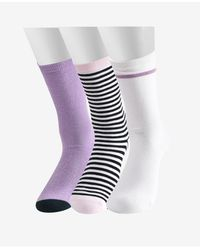Kate Spade Lips Crew Socks, 3 Pair - Multicolor
