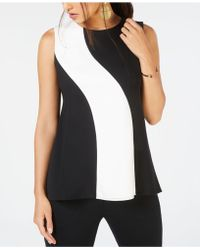 Alfani - Colorblocked Top, Created For Macy's - Lyst