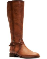 Frye Melissa Belted Tall Wide Calf - Brown