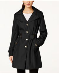 cda85c25c0f Lyst - Calvin Klein Plus Size Double-breasted Trench Coat in Black