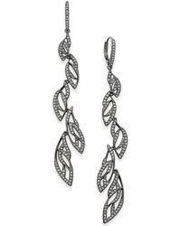 Danori - Rose Gold-tone Pavé Vine Drop Earrings, Created For Macy's - Lyst
