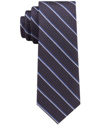 Michael Kors - Luxe Grenadine Stripe Slim Silk Tie - Lyst