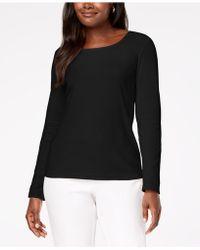 Karen Scott - Cotton Scoop-neck Top, Created For Macy's - Lyst