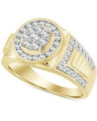 Macy's - Men's Diamond Ring (1 Ct. T.w.) In 10k Gold - Lyst