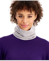 Charter Club Cashmere Solid Gaiter Facemask, Created For Macy's - Gray