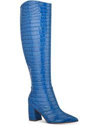 Marc Fisher Retie Knee-high Boots - Blue