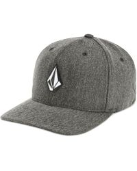 Volcom Flex-fit Heathered Logo Hat - Grey