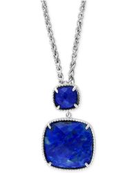 Effy Collection - Effy Lapis Lazuli Pendant Necklace (18 Ct. T.w.) In Sterling Silver - Lyst