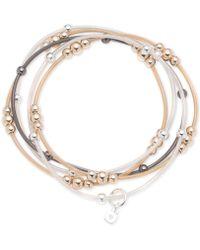 Nine West - Tri-tone 5-pc. Set Beaded Stretch Bracelets - Lyst