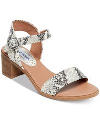 e3e06d51706 Steve Madden - April Block-heel City Sandals - Lyst