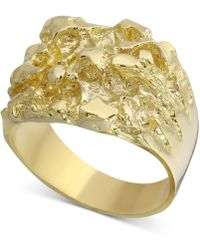 Macy's Nugget Ring In 10k Gold - Metallic