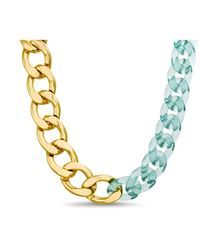 Steve Madden Mixed Resin And Metal Chunky Chain Necklace - Metallic