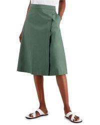 Alfani Flared Skirt, Created For Macy's - Green