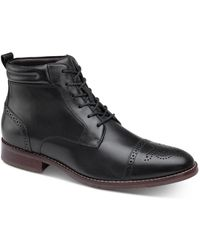 Johnston & Murphy Redding Cap-toe Boots - Black