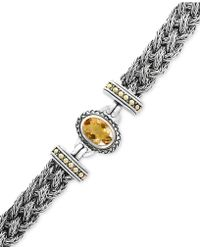 Effy Collection - Citrine Braided Bracelet (5-3/8 Ct. T.w.) In Sterling Silver & 18k Gold - Lyst