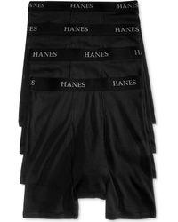 Hanes Underwear, Boxer Brief 4 Pack - Black