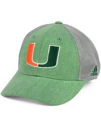 5132df22972 Lyst - Adidas Originals Miami Hurricanes Coach Meshback Flex Cap in ...