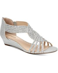 Charter Club Ginifur Wedge Sandals, Created For Macy's - Metallic