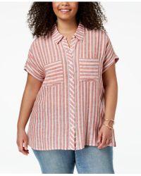 Lucky Brand - Trendy Plus Size Split-back Shirt - Lyst