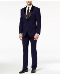 Perry Ellis - Slim-fit Stretch Navy Shawl-collar Tuxedo - Lyst