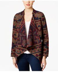 Vintage America - Draped Patterned Jacket - Lyst