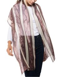 Vince Camuto Python Stripe Oblong Silk Scarf - Multicolor
