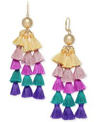 INC International Concepts - I.n.c. Gold-tone Ball & Multicolor Tassel Chandelier Earrings, Created For Macy's - Lyst