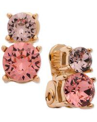 Anne Klein - Swarovski Crystal Drop Clip-on Earrings - Lyst