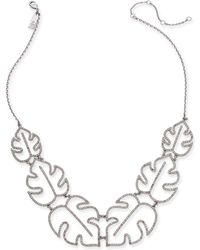 "INC International Concepts - I.n.c. Silver-tone Pavé Palm Leaf Statement Necklace, 20"" + 3"" Extender, Created For Macy's - Lyst"