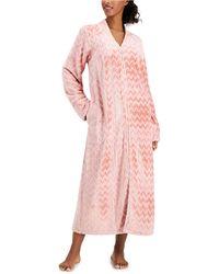 Charter Club Petite Long Chevron Zip Robe, Created For Macy's - Pink