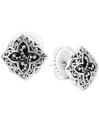 8305d4247 Lois Hill - Scroll Work & Filigree Decorative Stud Earrings In Sterling  Silver - Lyst