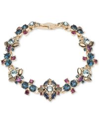 Marchesa - Gold-tone Stone & Crystal Cluster Link Bracelet - Lyst