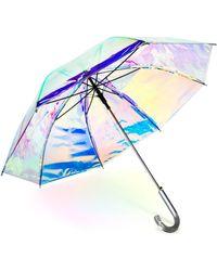 Shedrain Iridescent Auto Open Stick Umbrella - Blue
