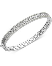 Arabella - Sterling Silver White Swarovski Zirconia Bangle Bracelet (9-1/3 Ct. T.w) - Lyst